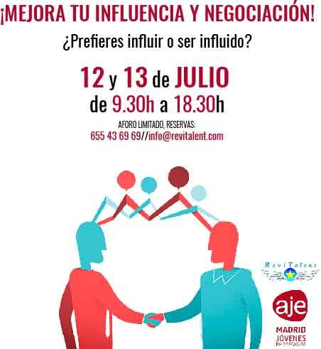 12 y 13 de Julio: ¡Mejora tu influencia y negociación!